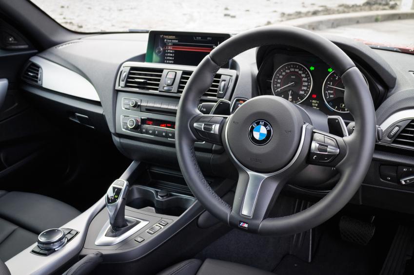 BMW M235i interior on May 15 2014 in Hong Kong.