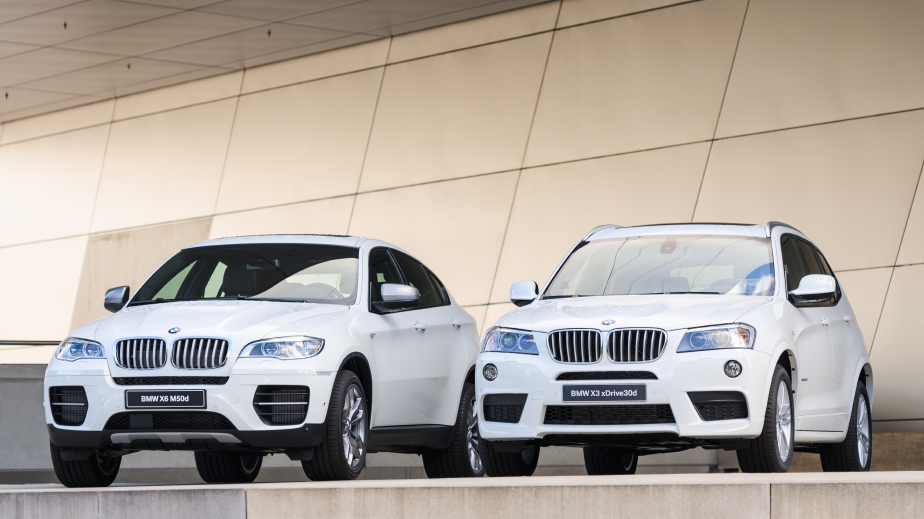 New models of X3 X6 SUV presented in BMW Welt show