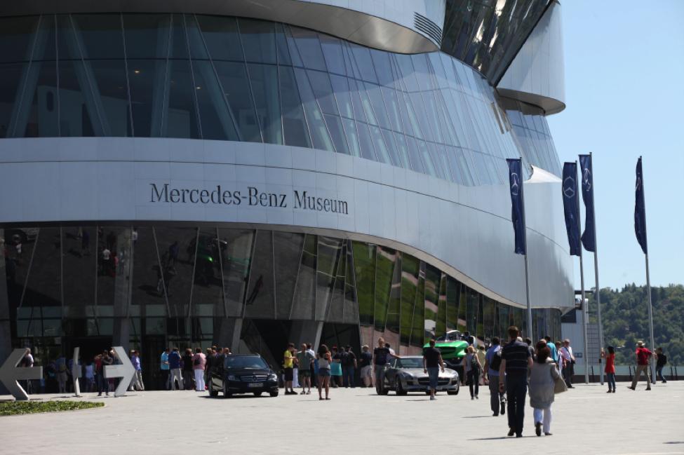 The Mercedes-Benz Museum, Stuttgart, Germany