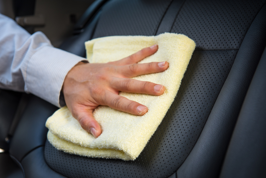 Auto body pros don't use lotion-based products on perforated leather, since it can get stuck in the holes.