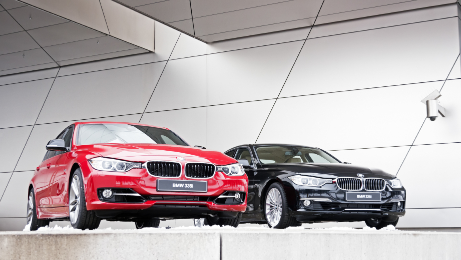 BMW 3 Series models typically use rear wheel drive powertrains.