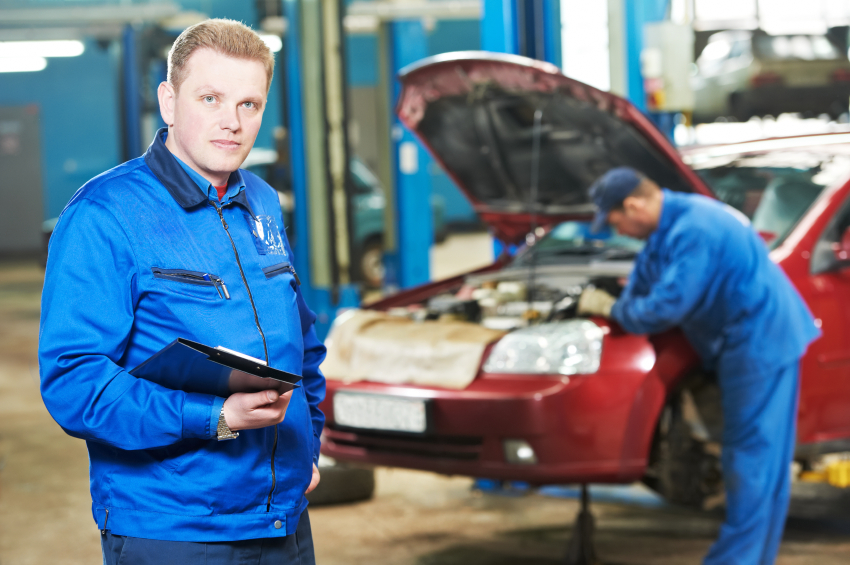 A shop foreman is one of many career advancement possibilities for auto mechanics.