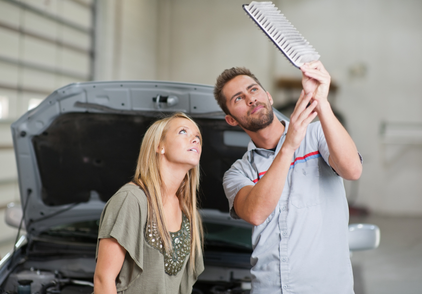 A dirty air filter increases fuel usage by 10%.