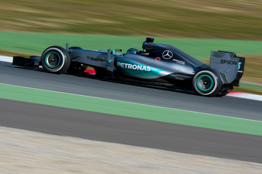 The split turbo design has allowed Mercedes to make its car more aerodynamic.