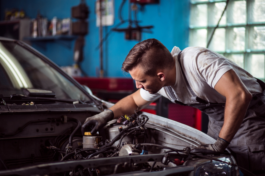 Modern auto technicians learn to repair a wide range of engine types