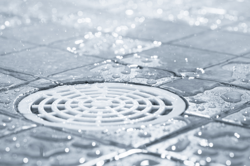 Floor drains prevent water from building up in detailing shops