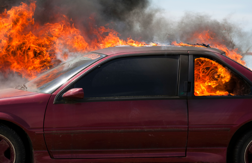 Car fires can occur for a variety of reasons like faulty wiring