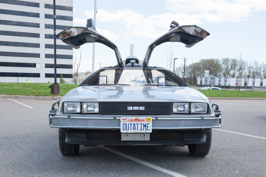 The DeLorean's gull-wing doors can leave people trapped inside if there is a roll-over