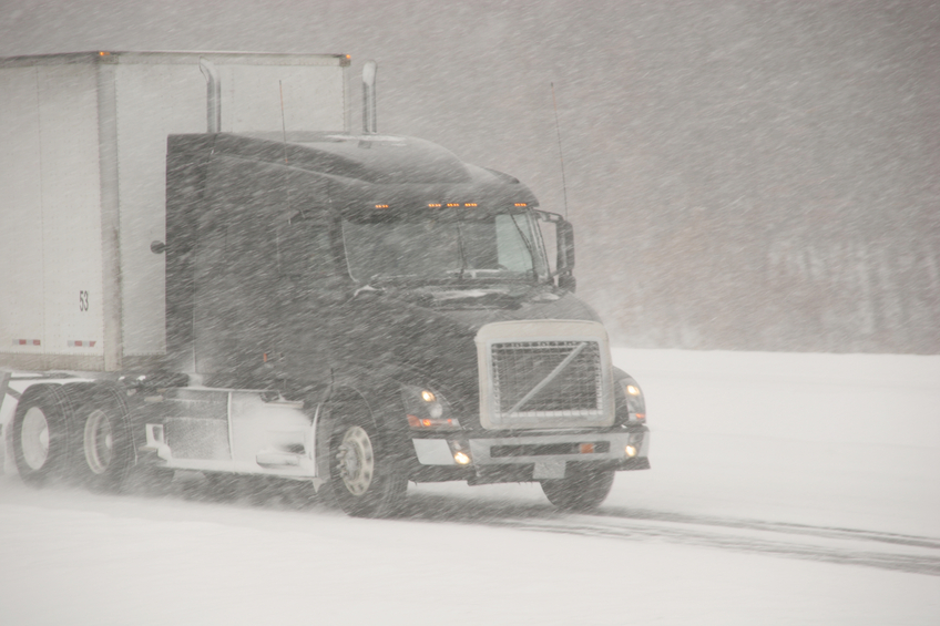 'White-outs' occur up North, and sometimes truckers cannot even see the road in front of them