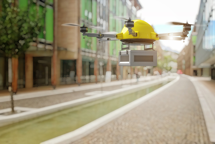 Drones are efficient deliverers of small goods travelling short distances