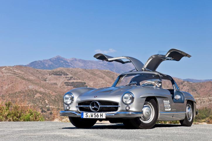 Mercedes-Benz pioneered gullwing doors