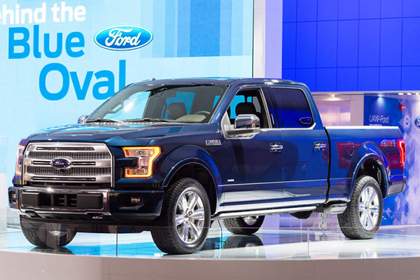 Truck sales again dominated, with big names like Ford doing well in Canada