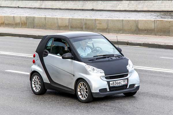 Smart's Fortwo is one of the most recognizable small cars seen on modern roads