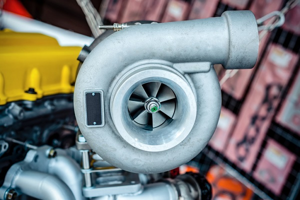 A turbocharger contains two powerful fans that improve air flow
