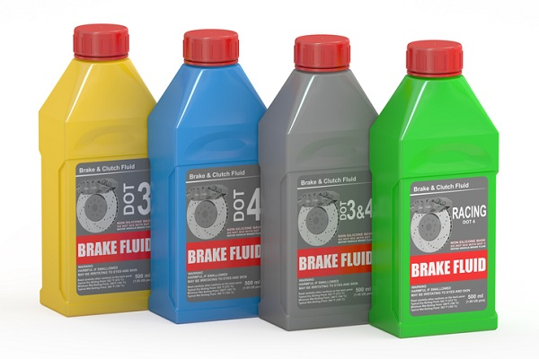 Only use the type of brake fluid specified in a car's owner's manual