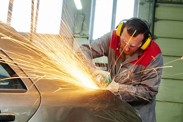 Shop foremen use the technical skills learned in auto body school