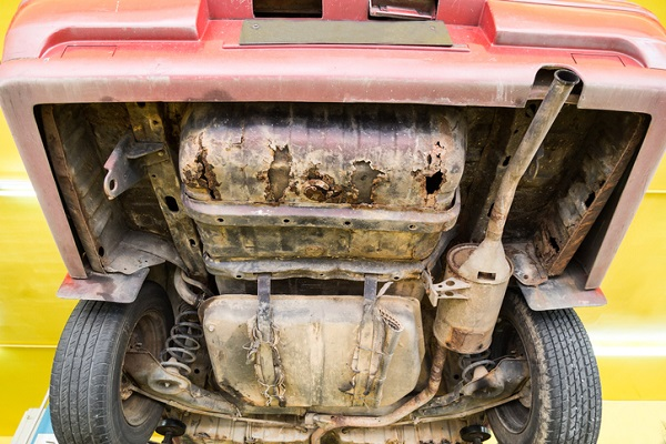 Without proper undercoating, the undercarriage of a vehicle can rust and corrode
