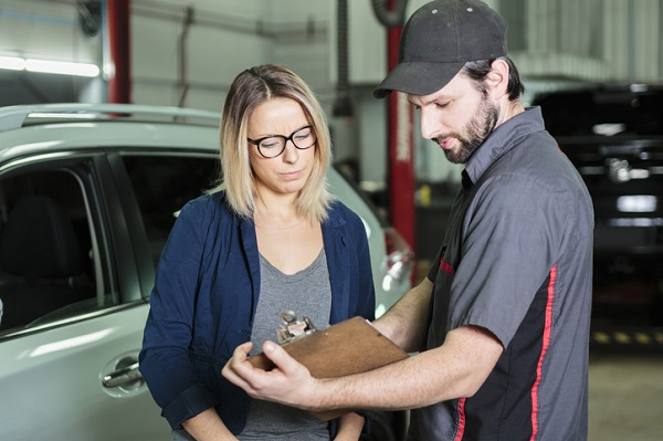 Service advisors help customers take better care of their car