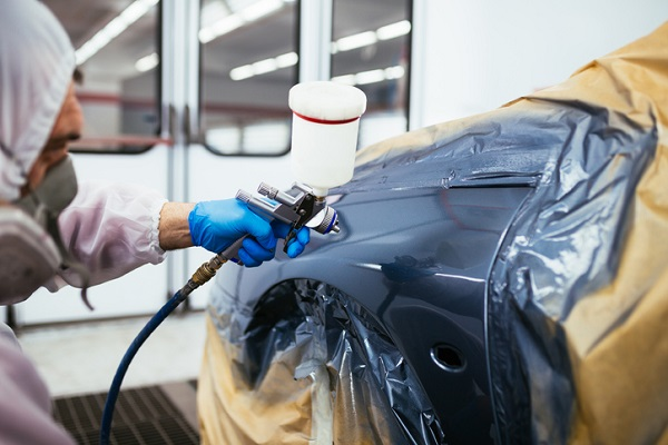 Students at ATC can rely on their practical training to stay safe while applying paint
