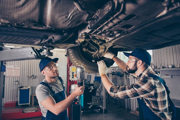 Auto mechanics know the common areas of a suspension system that are vulnerable to road damage