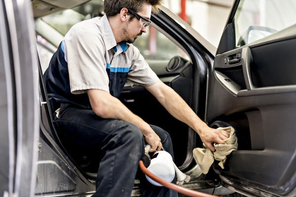 Detailers make sure to thoroughly clean interiors, making sure to remove all stains and dirt