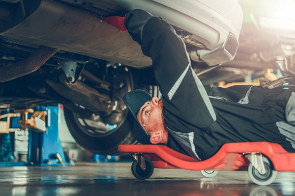 A visual inspection of the vehicle's exhaust system will help you pinpoint the source of the damage