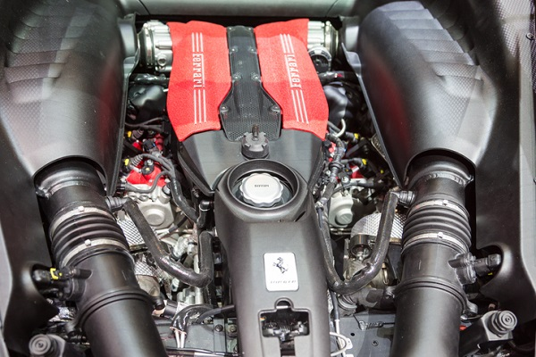 The biturbo V8 engine was a risk, since there were worries it wouldn't sound like a typical Ferrari