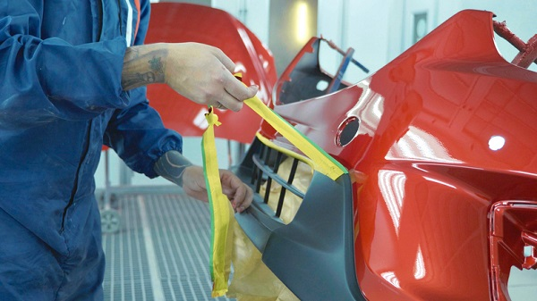 Specific products can help refinishing prep technicians keep certain areas safe from paint