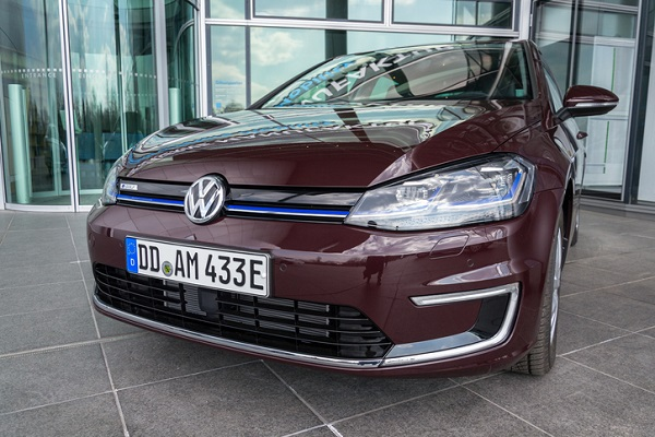 The Volkswagen e-Golf is styled to blend in and look less like a typical electric vehicle