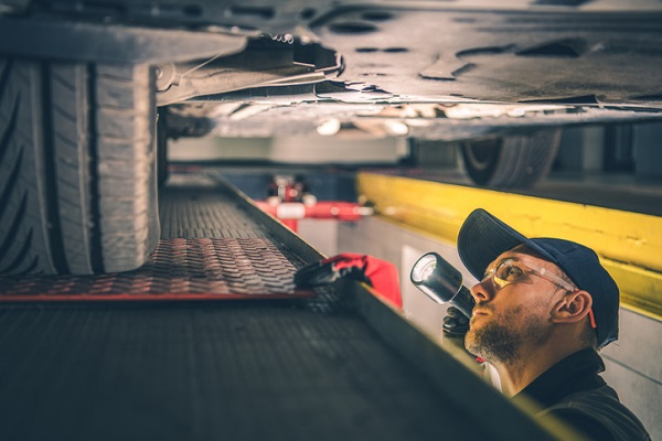 An undercarriage scan can detect details that are hard for human technicians to see