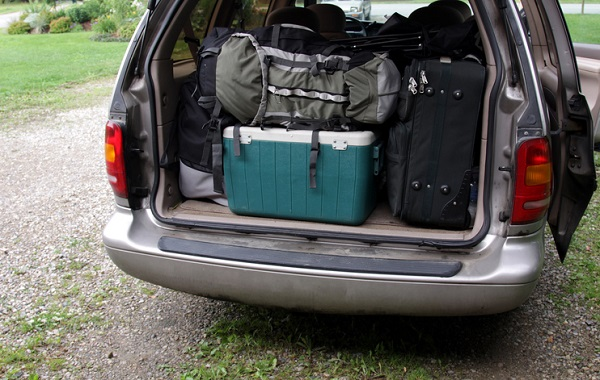 Be sure your road trip car emphasizes cargo space if you're travelling with lots of gear
