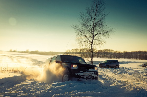 The Land Rover Discovery Sport can get through various types of environments, including snow