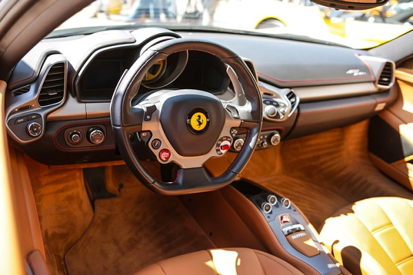 Ferrari's new SUV will likely contain its famous leather upholstery, such as in this F458