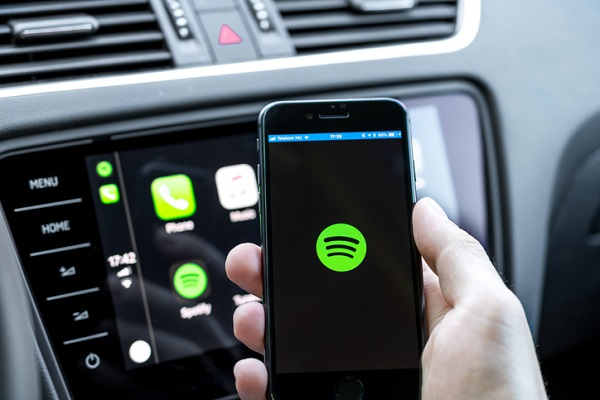 Third-party apps like Spotify can also be used alongside CarPlay