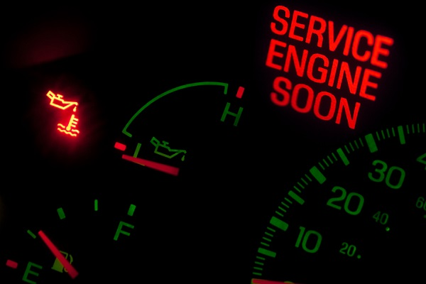 A flashing check engine light indicates the vehicle needs to be serviced as soon as possible