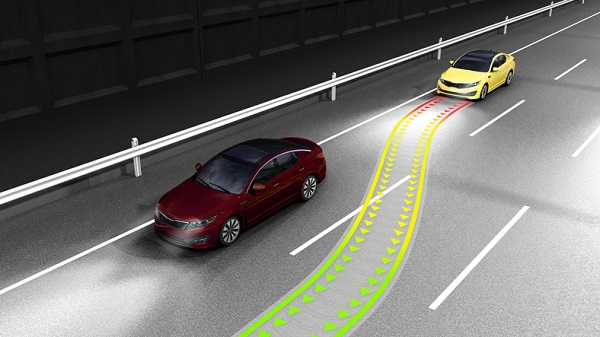 An autonomous steering system can help drivers find paths around obstacles