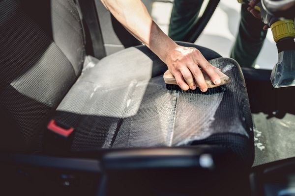To clean upholstery, many cleaning products come in handy, such as brushes and industrial cleaners