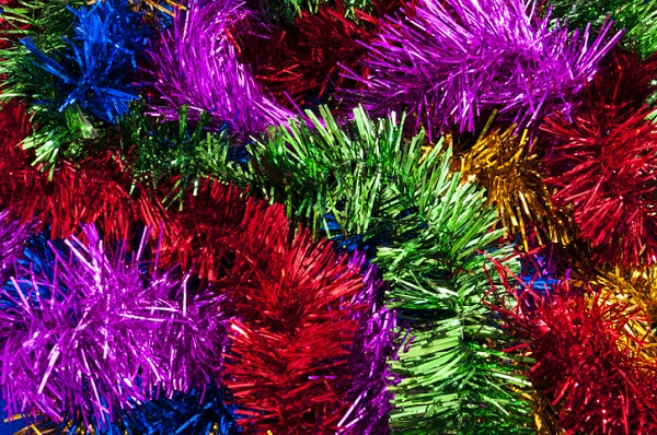 Tinsel and garland are great decorations for holiday car gift wrapping