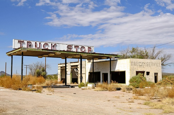 A number of truck stops, especially smaller ones, have declined in activity or been abandoned