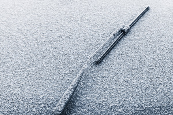 Try to avoid scraping your wipers across an icy windshield