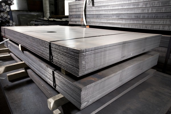 Sheets of stainless steel before being shaped into car parts