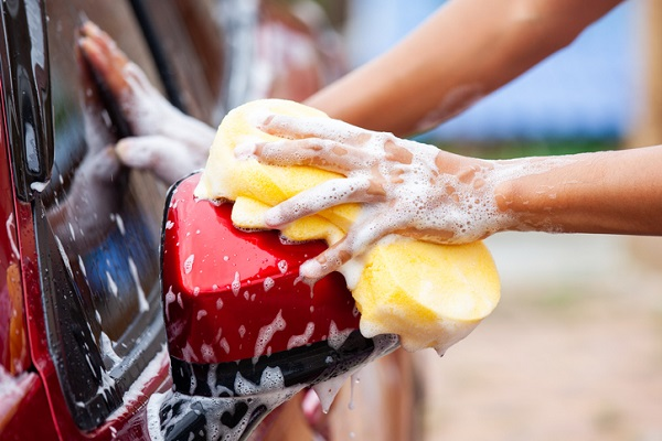 Washing a car once a week can help to protect it against sun damage
