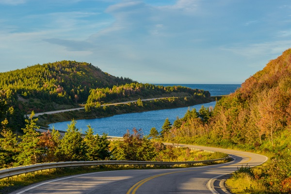 The Cabot Trail is only 300 km, but impressive views can be seen throughout