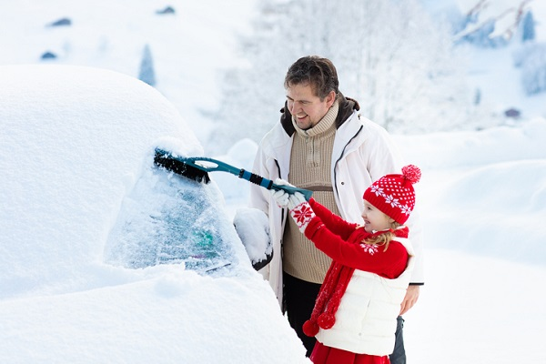 Wiper blades need to work double-time over the winter—even when they have a little helper!